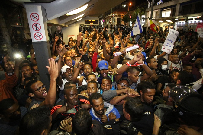 Ethiopian Jews protest Israel police brutality