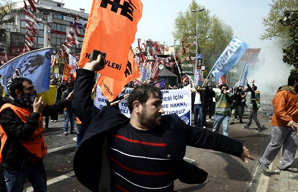 Hundreds of protesters held over May Day rallies