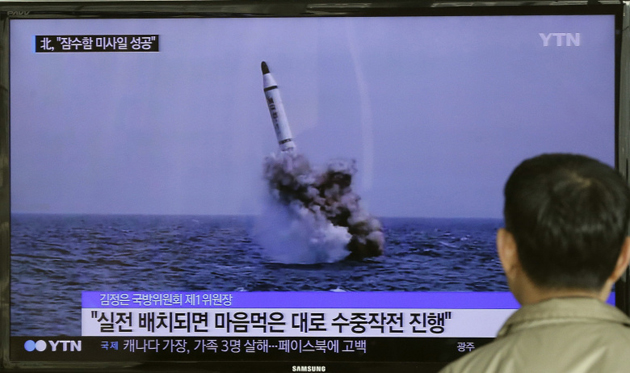 N.Korea fires ballistic missile from submarine
