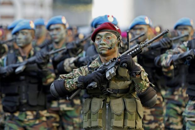 Malaysia forces arrive in S.Arabia