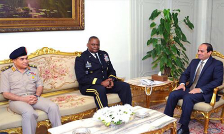 Egypt's Sisi meets US Central Command chief