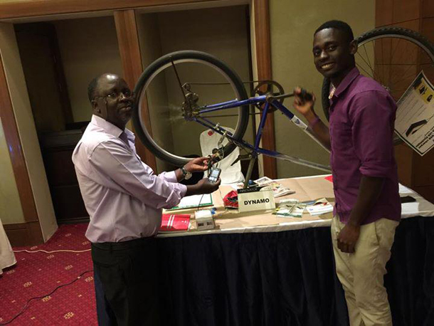 Uganda's bicycle-powered USB charger