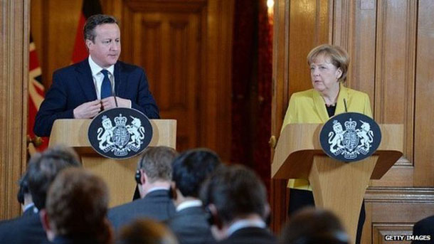 Cameron, Merkel in EU reform talks