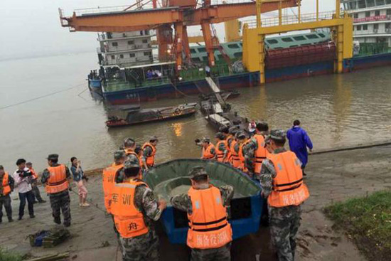 Chinese ferry carrying 458 sinks in storm