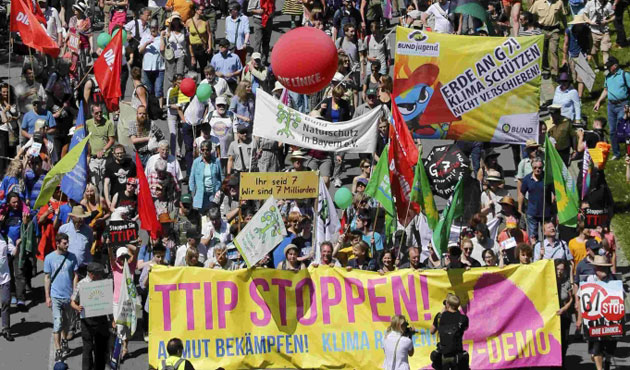 Thousands activists protest against G7 Summit