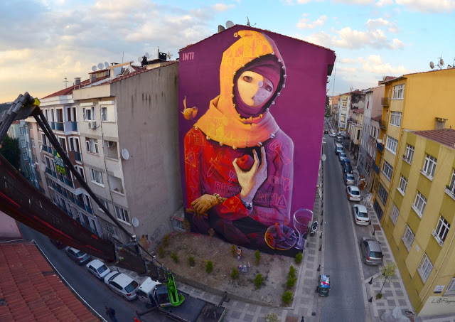 Artists using Istanbul's walls as their canvas