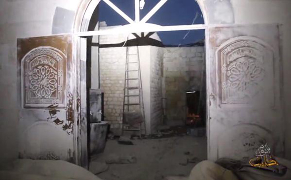 Barrel bomb hits Aleppo mosque during breaking of fast