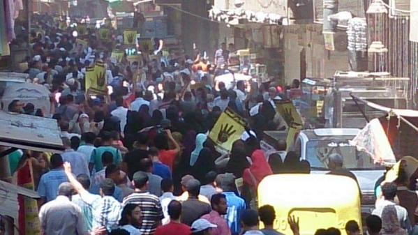 Egyptians fill the streets to protest coup