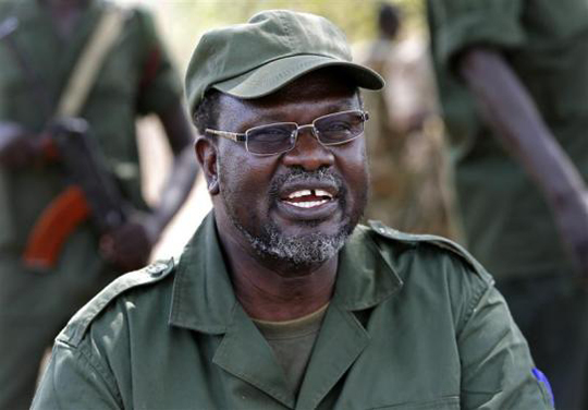 S.Sudan rebel chief issues war call from exile