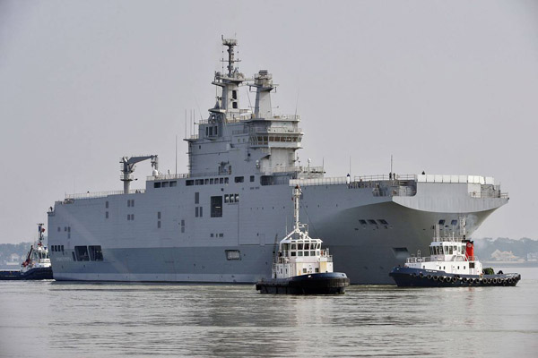 France fully reimburses Russia for terminated Mistral deal