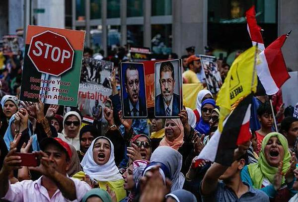 Protests in NY against the Rabaa, al-Nahda massacre