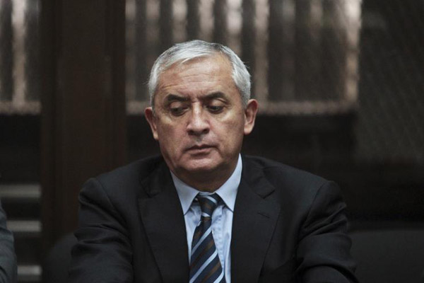 Guatemalan ex-president to await trial in jail