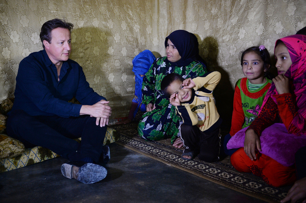 UK's Cameron visits Syria refugees in Lebanon
