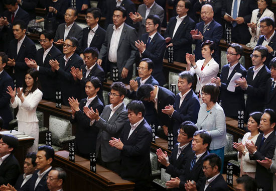 Japan approves bill for overseas combat for military