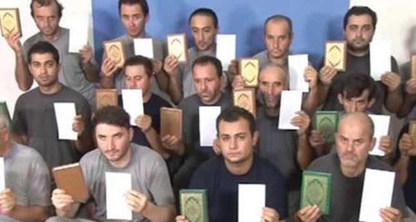 Kidnapped Turks appear in video promising their release