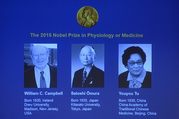 Three scientists share 2015 Nobel Prize in medicine