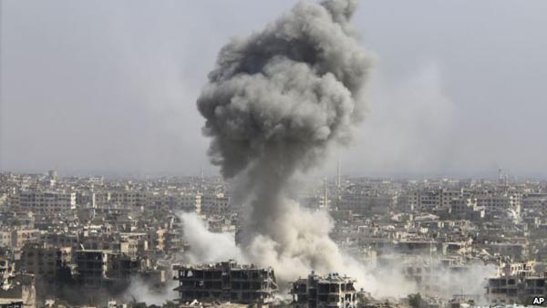 Israel reportedly launches airstrikes near Damascus