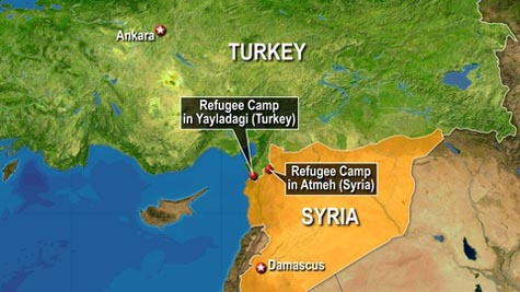 Thousands flee Russian airstrikes in Syria