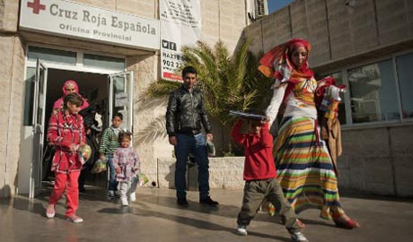 First refugees arrive in Spain