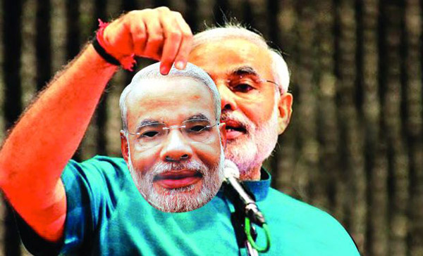 The Modi behind the mask....