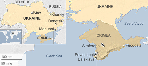 Ukraine warns Russia of rocket tests near Crimea