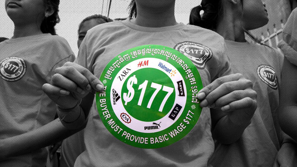Cambodian garment workers' fight for $177 a month