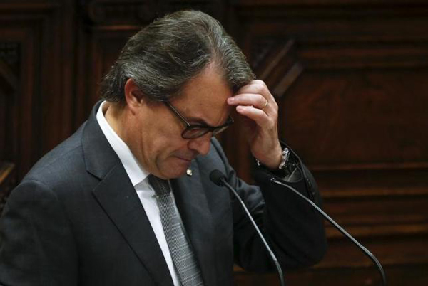 Catalan separatists Mas unable to from government