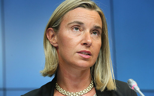 EU's Mogherini arrives in Kuwait amid Gulf crisis