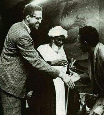 A rare picture of Malcolm X...