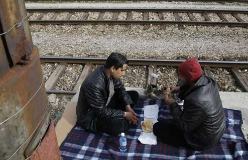 Trapped Afghans in Greek camp decry discrimination