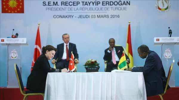 Turkey, Guinea sign nine bilateral agreements