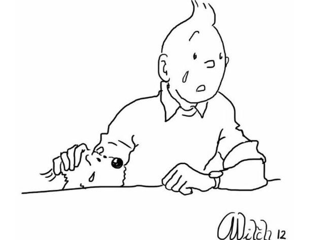 Tintin weeps for Belgium but forgets Turkey...