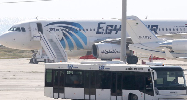 Hijacker of EgyptAir flight arrested