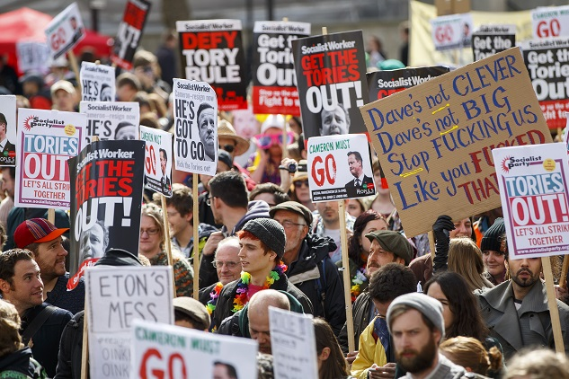 Thousands call for UK PM to quit over offshore fund