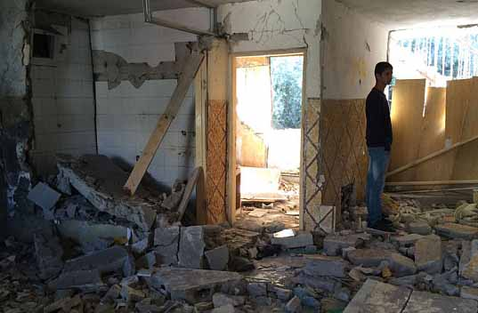 Israel IDF destroy home of Palestinian teenager