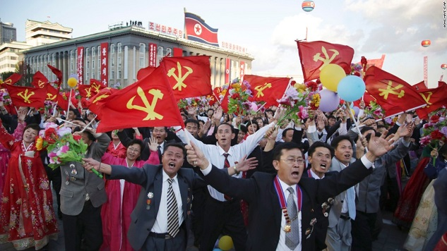 Pyongyang mounts show of support for Kim