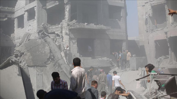 Regime barrel bombs kill 7 in Aleppo