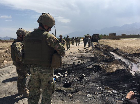 Suicide bomb targeted NATO troops in Afghanistan