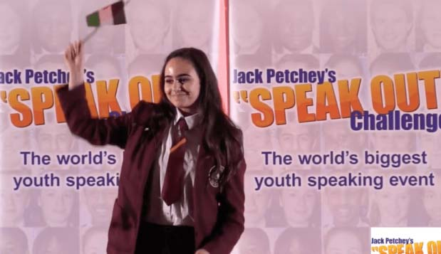 A 15 year old's speech: 'Woken by bombs not birds'