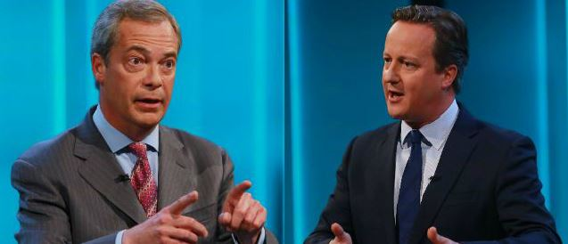 Farage and Cameron face EU questions