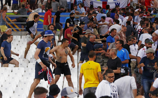 UK police say Russia fans were armed for fight