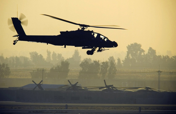 US Apache helicopters strike ISIL for first time in Iraq