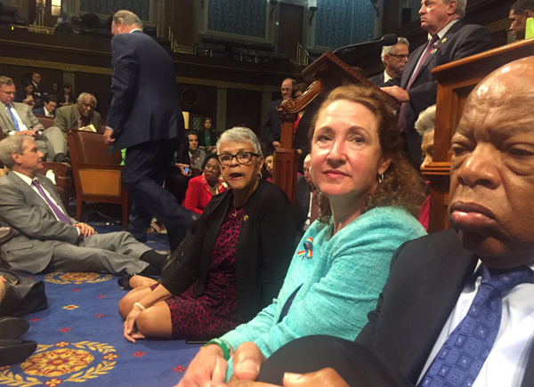 US Democrats continue sit-in to force gun control vote
