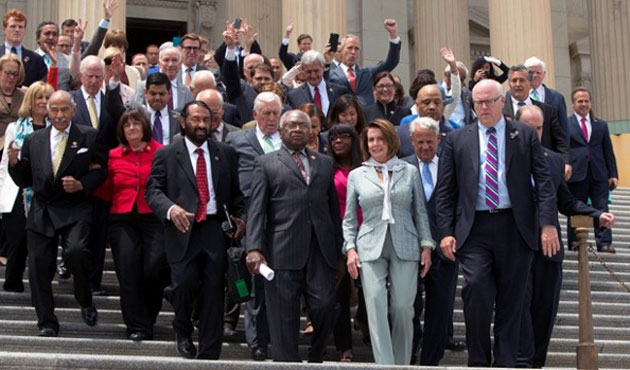 House adjourns as Democrats vow to continue sit-in