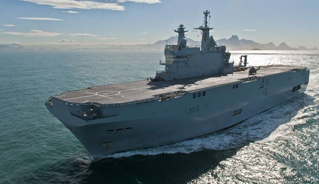 First French-Built Mistral Warship Arrives In Egypt