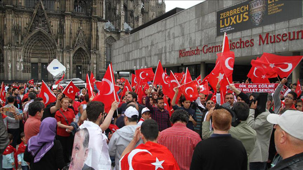 Thousands worldwide protest attempted coup in Turkey