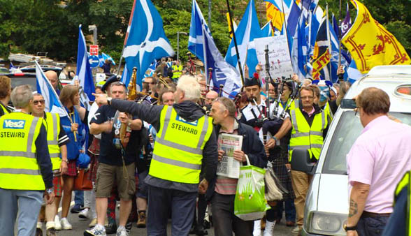 Activists rally for Scottish independence after Brexit vote