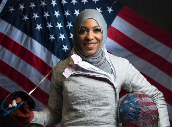 Muslim fencer pierces bigotry in US Olympic history
