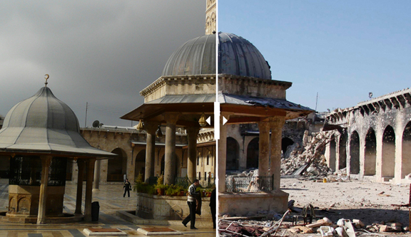 Haunting before and after pictures of Aleppo