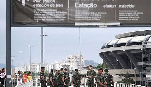 Controlled blast near Olympic cycling course in Rio